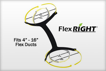 FlexRight - One Size Fits All - 4 in to 16 in flexible ducts.